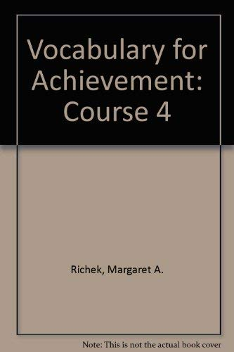 9780395675083: Vocabulary for Achievement: Course 4