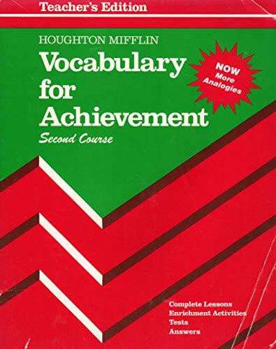 9780395675137: Vocabulary For Achievement (Second Course)
