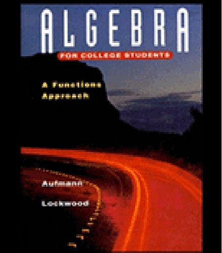9780395675304: Algebra for College Students: A Functions Approach