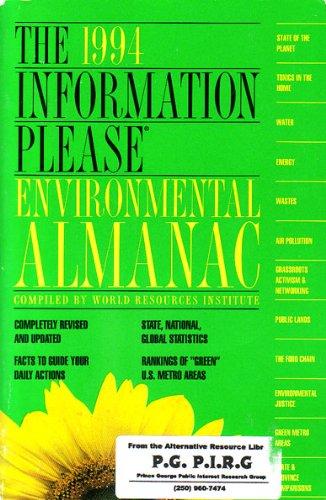 HAMMOND IPA ENVIRONMENT 94 PA (Information Please Environmental Almanac): Robert W. Harris