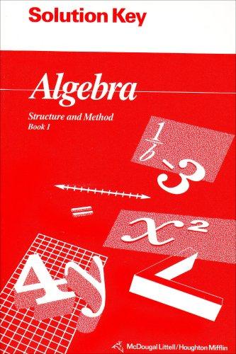 9780395677643: Algebra S+m Bk 1 Sol Key 94
