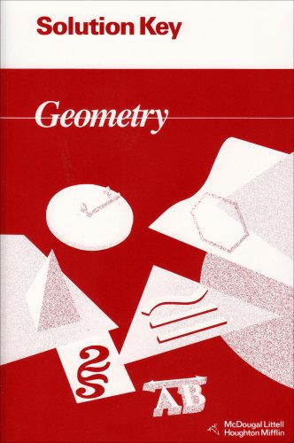 9780395677667: Jurgensen Geometry Solution Key 94 (McDougal Littell Jurgensen Geometry)
