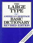 9780395677704: The Large Type American Heritage Basic Dictionary, Revised Edition