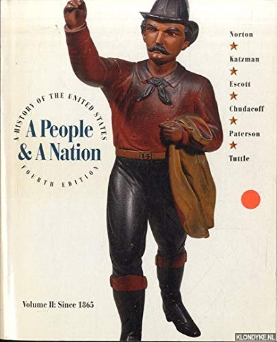 9780395678190: 2: A People & A Nation (VII since 1865)