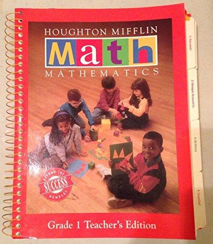 9780395679159: Houghton Mifflin Math Mathematics Gr1 TE