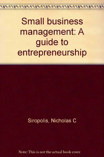 9780395692424: Small business management: A guide to entrepreneurship