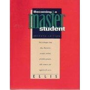 9780395692936: Becoming a Master Student 7ED