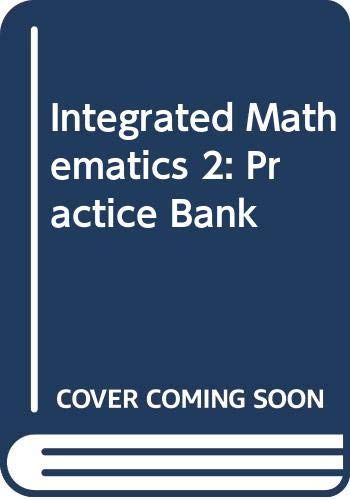 9780395701621: McDougal Littell Integrated Math: Practice Bank Book 2