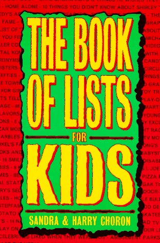9780395708156: The Book of Lists for Kids