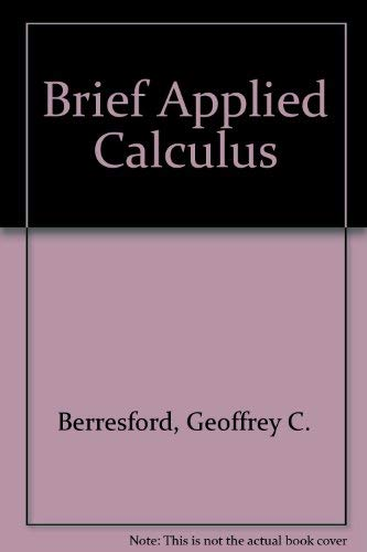 9780395708248: Brief Applied Calculus