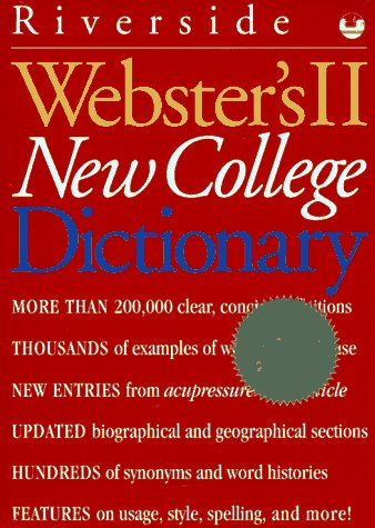 Webster's II New College Dictionary: Severynse, Marion