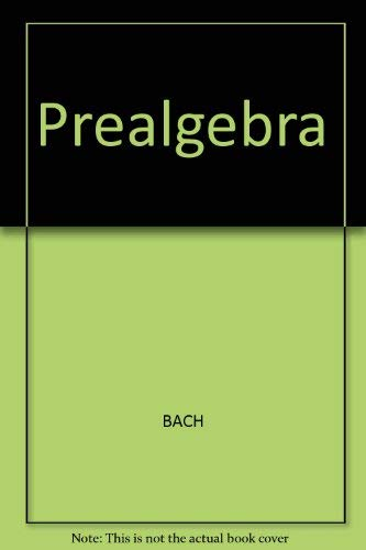 9780395711064: Prealgebra Mathematics for a Variable World