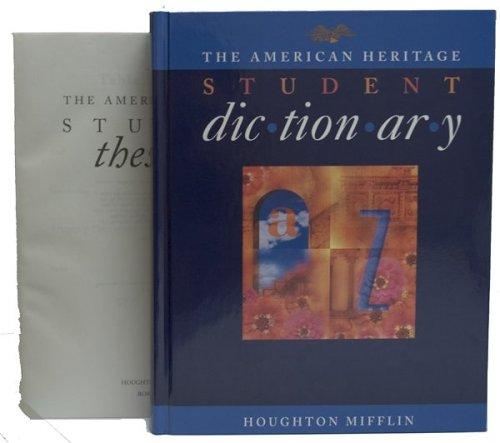 9780395711385: The American Heritage Student Dictionary and The American Heritage Student Thesa urus Set
