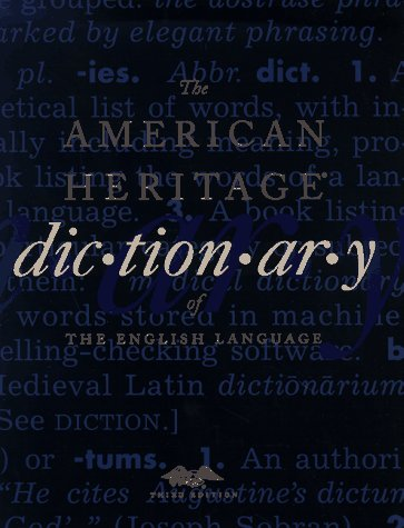 9780395711460: The American Heritage Dictionary of the English Language, Third Edition: Print and CD-ROM Edition