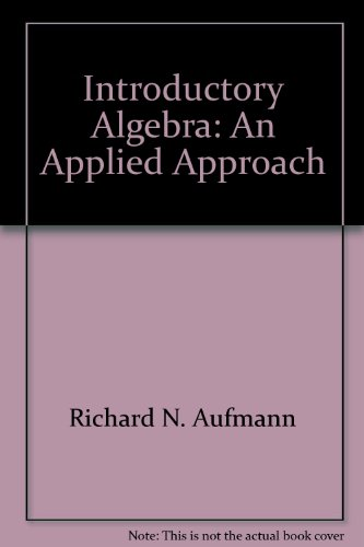 9780395712184: Introductory Algebra: An Applied Approach
