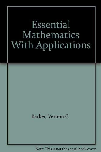 9780395712290: Essential Mathematics With Applications