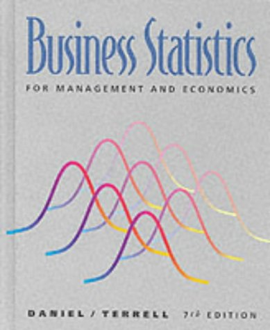 9780395712313: Business Statistics for Management and Economics