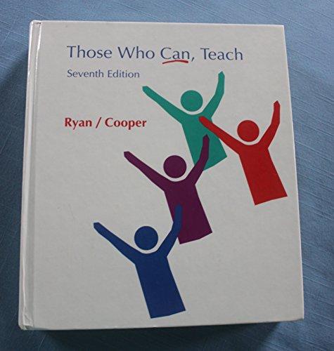 9780395712429: Those Who Can Teach