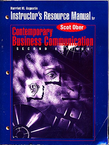 9780395712641: Instructor's resource manual for Ober contemporary business communication (for 3-ring binder)
