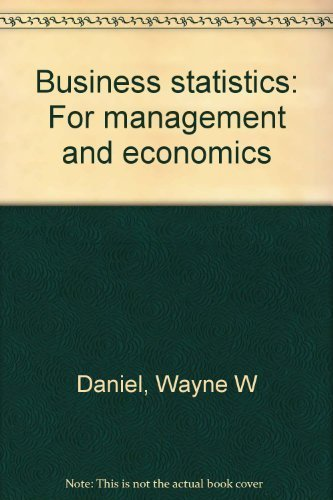 9780395716717: Business statistics: For management and economics