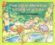 9780395720905: Five Little Monkeys Sitting in a Tree Book & Cassette (A Five Little Monkeys Story)