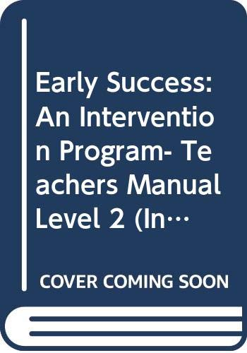 9780395722510: Early Success: An Intervention Program- Teachers Manual, Level 2 (Invitations to Literacy)