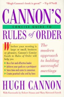9780395733264: Cannon's Concise Guide to Rules of Order