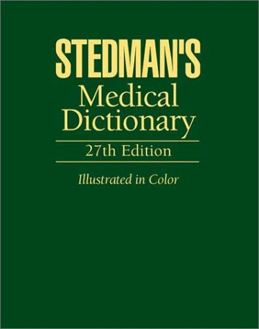9780395738559: Stedman's Medical Dictionary