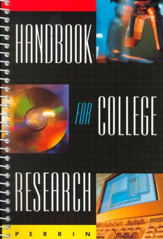 9780395738696: Handbook for College Research