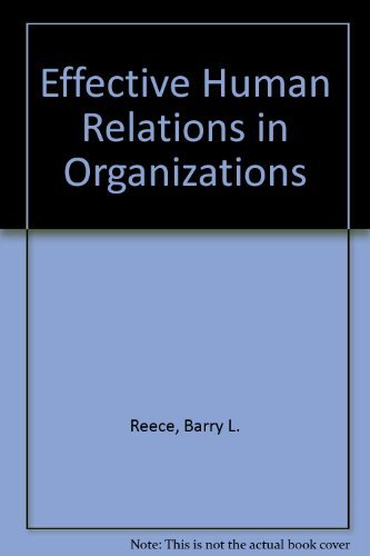 9780395740057: Effective Human Relations in Organizations