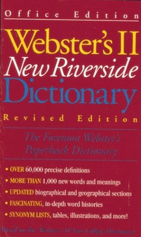 9780395742884: Websters Riverside Dictionary