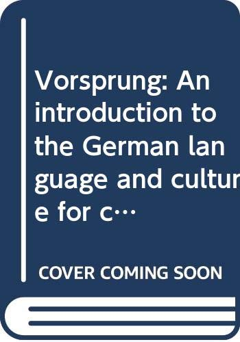 9780395745595: Vorsprung: An introduction to the German language and culture for communication