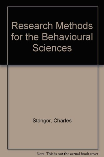 9780395745823: Research Methods for the Behavioral Sciences