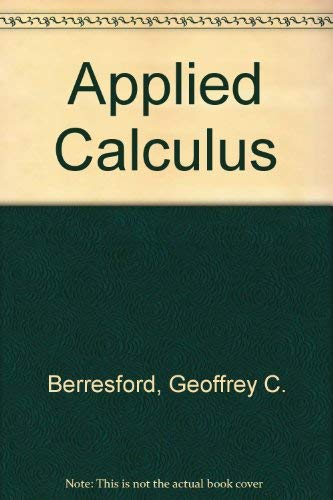 9780395746288: Applied Calculus