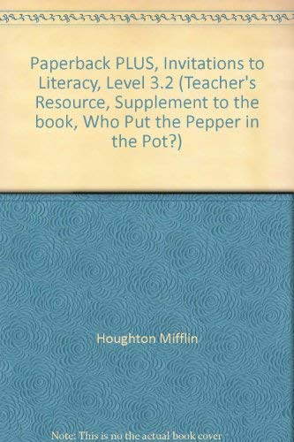 9780395751909: Paperback PLUS, Invitations to Literacy, Level 3.2 (Teacher's Resource, Supplement to the book,