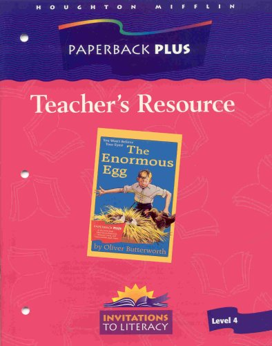 9780395752074: Teacher's Resource for The Enormous Egg, Level 4