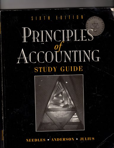 9780395752722: Principles of Accounting: Study Guide