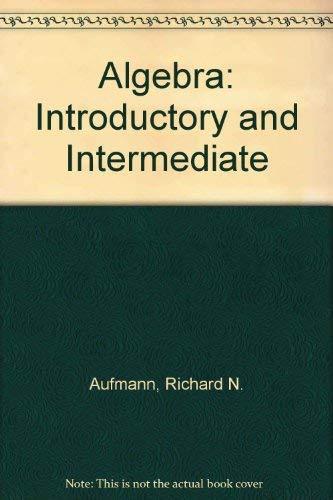 9780395755808: Algebra: Introductory and Intermediate