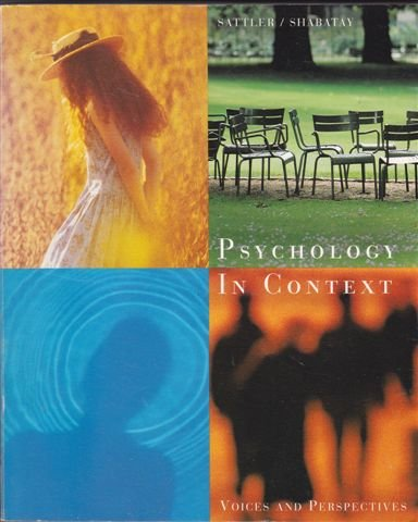 9780395757499: Psychology in Context: Voices and Perspectives