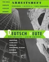 9780395766873: Deutsch Heute: Grundstufe : Arbeitsheft : Workbook/Lab Manual/Video Workbook