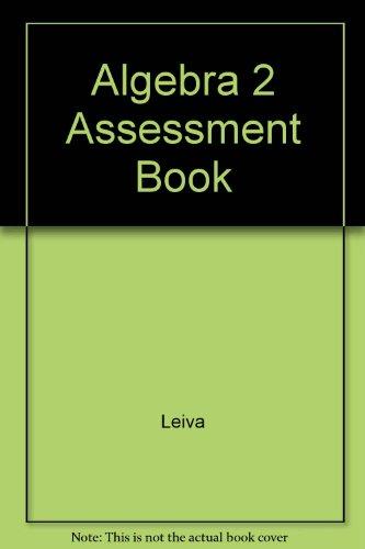 Algebra 2 Assessment Book By Leiva Houghton Mifflin