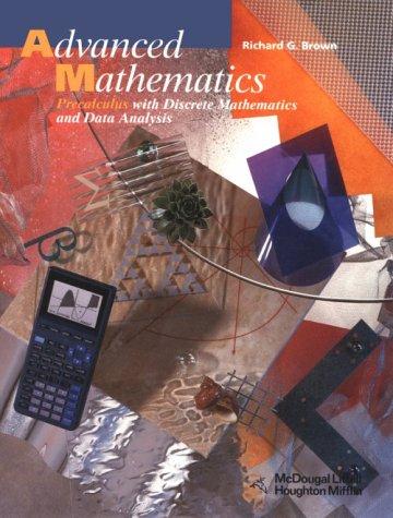 9780395771143: Advanced Mathematics: Precalculus With Discrete Mathematics and Data Analysis