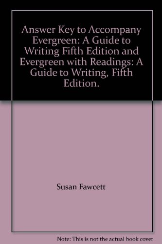 9780395777657: Answer Key to Accompany Evergreen: A Guide to Writing Fifth Edition and Evergreen with Readings: A Guide to Writing, Fifth Edition.