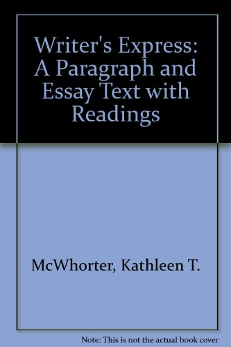 9780395782927: Writer's Express: A Paragraph and Essay Text With Readings