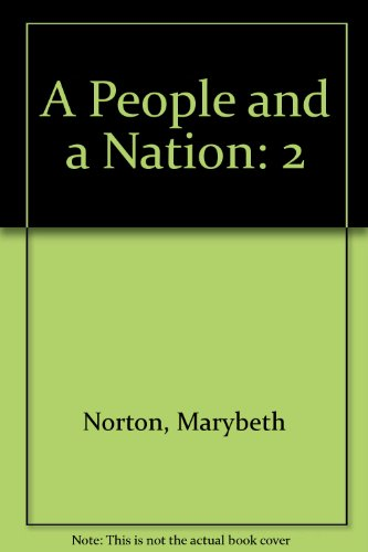9780395788875: 2: A People and a Nation: Since 1865