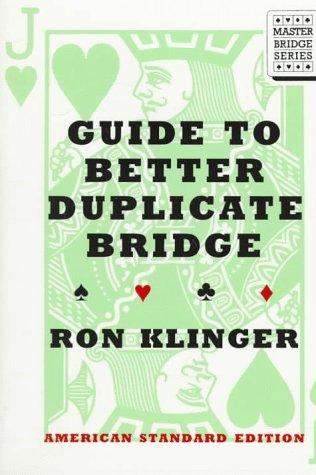 9780395791493: Guide to Better Duplicate Bridge