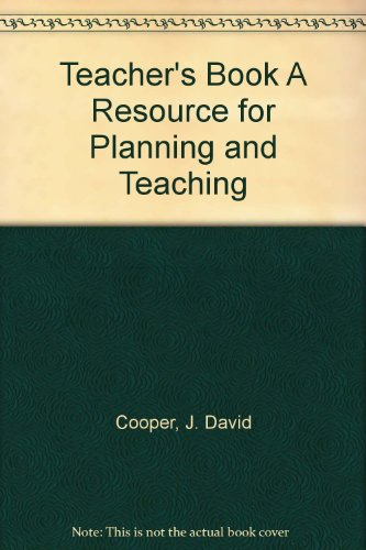 9780395795866: Teacher's Book A Resource for Planning and Teaching
