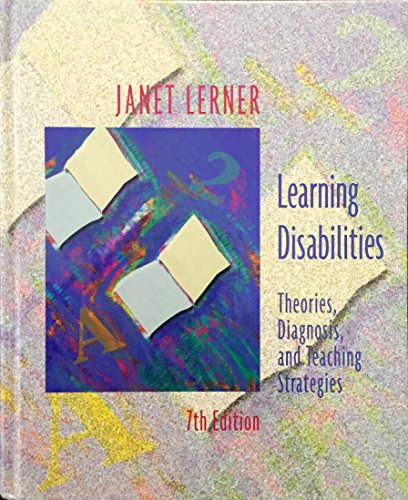 9780395796856: Learning Disabilities: Theories, Diagnosis and Teaching Strategies