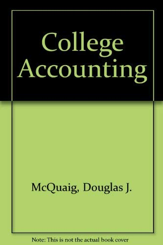 9780395797006: College Accounting: Chapters 1-13