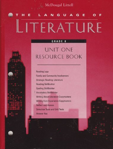 9780395798751: McDougal Littell's The Language of Literature, Grade 8, Unit One Resource Book